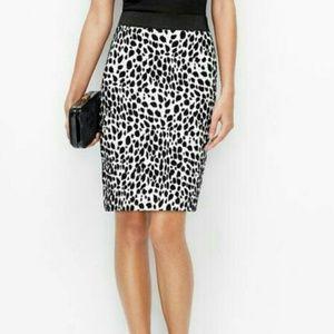 Ann Taylor Dalmatian Print Pencil Skirt
